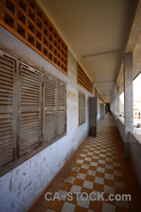 Chequered tuol sleng genocide museum security prison 21 torture cambodia.