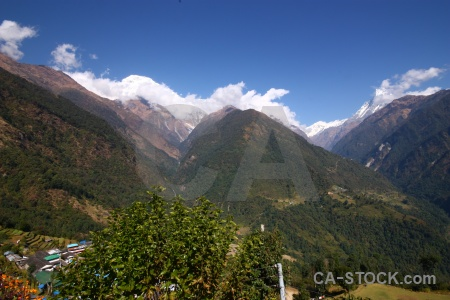 Chhomrong trek south asia annapurna sanctuary machapuchare.