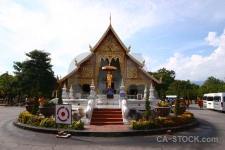 Chiang mai wat phra singh woramahaviharn step buddhist thailand.