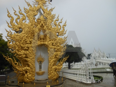Chiang rai cloud white temple person ornate.