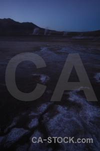 Chile andes landscape steam south america.