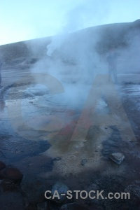 Chile el tatio steam rock mountain.
