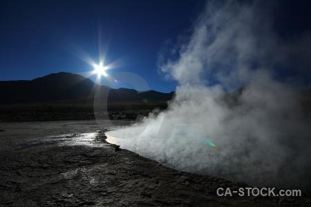 Chile geyser atacama desert sky el tatio.