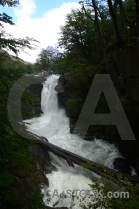Chile log patagonia los perros river water.