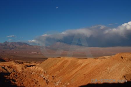 Chile sky moon san pedro de atacama desert.