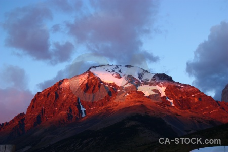 Chile sunset circuit trek south america snow.