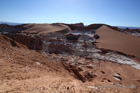 Chile valley of the moon salt sand dune.