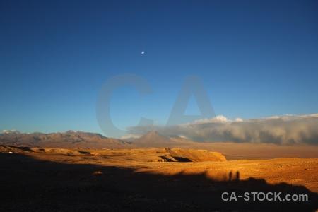 Chile volcano desert valle de la luna sky.