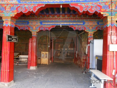 China building archway lhasa temple.