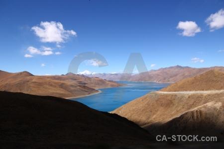 China cloud sky yamdrok yumtso plateau.