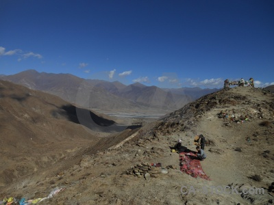 China himalayan plateau cloud mountain.