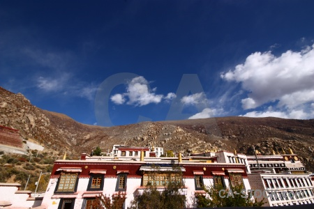 China sky monastery cloud altitude.