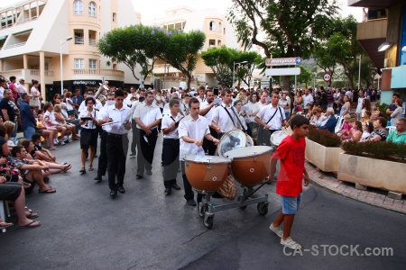 Christian costume javea drum person.