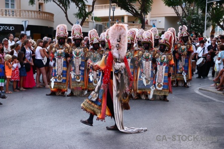 Christian costume moors javea person.