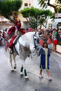 Christian costume person javea moors.