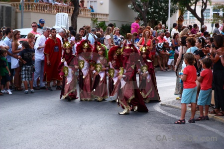 Christian javea costume fiesta person.