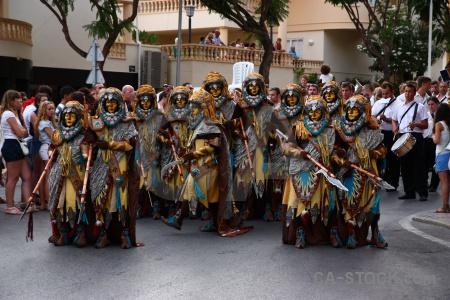 Christian moors person fiesta costume.