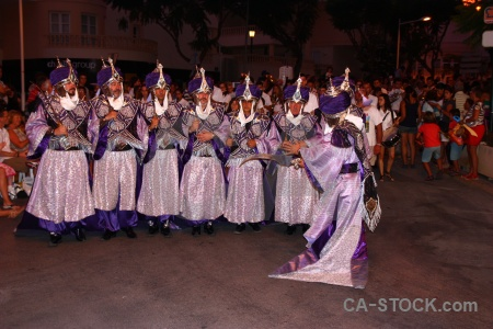Christian person costume moors javea.