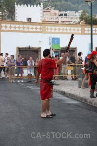 Christian spain musket fiesta person.