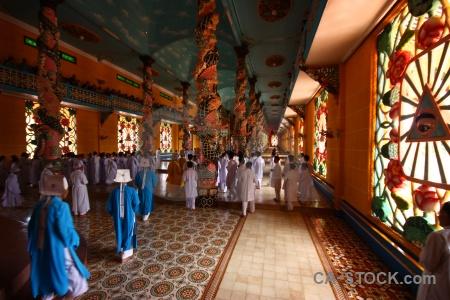 Church pray religion hall cao dai.