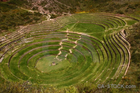 Circle terrace inca peru moray.