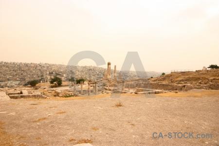 Citadel amman stone western asia archaeological.