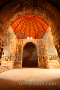 Citadel jordan archway inside amman.
