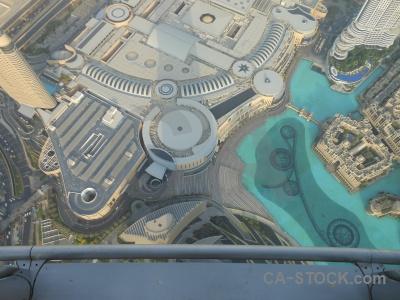 City aerial building burj khalifa dubai.
