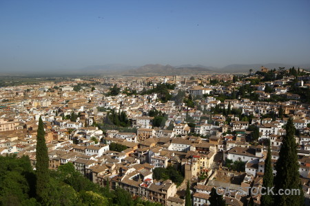 Cityscape granada view village europe.