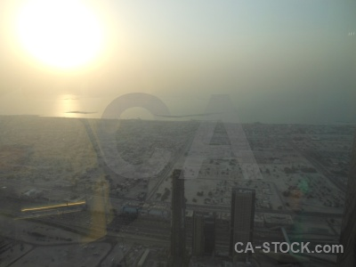 Cityscape sunset sea sun uae.