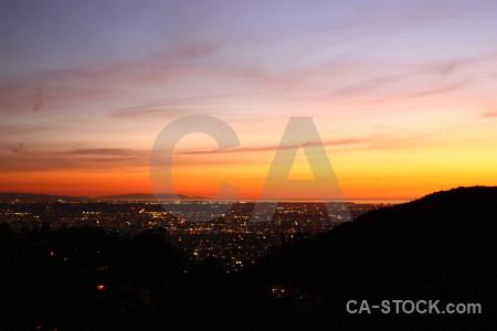 Cityscape sunset sunrise night building.