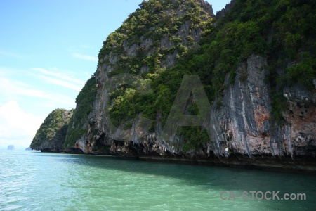 Cliff asia tropical limestone cloud.
