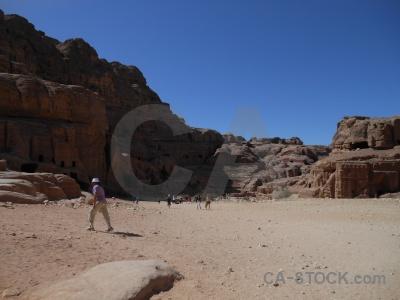 Cliff carving historic nabataeans jordan.