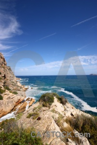 Cliff cloud spain europe javea.