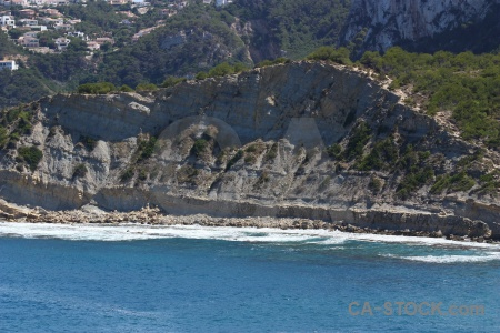 Cliff europe javea sea water.