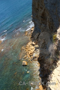 Cliff javea europe spain water.