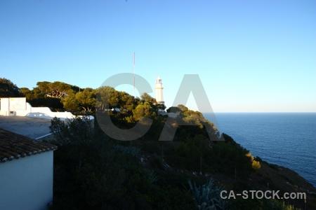 Cliff lighthouse water spain javea.