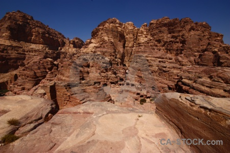 Cliff nabataeans western asia historic unesco.