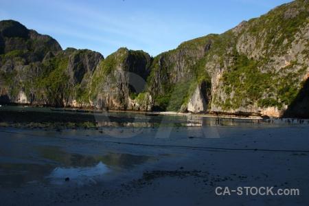 Cliff phi island sand limestone the.