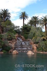 Cliff pool fountain rock water.