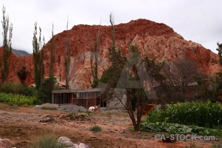 Cliff rock cerro de los siete colores salta tour landscape.