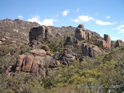 Cliff rock landscape.