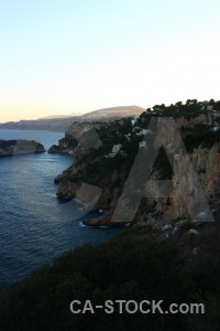 Cliff sea water rock europe.