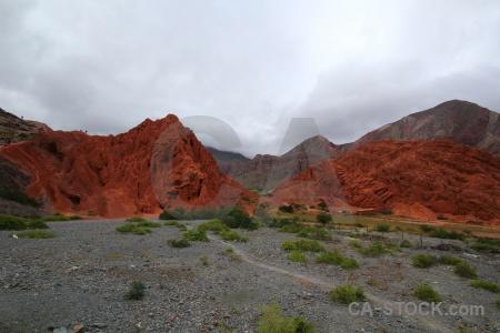 Cliff sky mountain bush cerro de los siete colores.