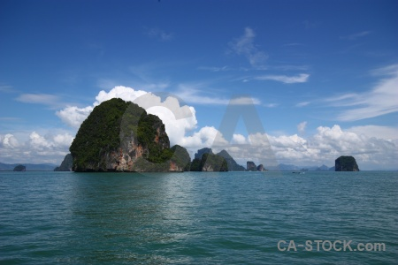 Cliff southeast asia sea sky phang nga bay.