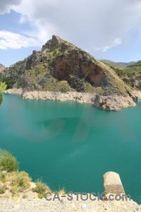 Cliff spain europe water dam.