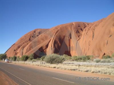 Cliff uluru rock ayers australia.