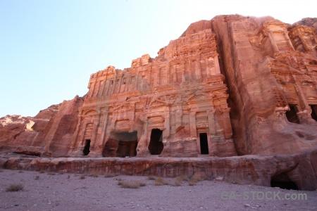 Cliff unesco ancient tomb rock.
