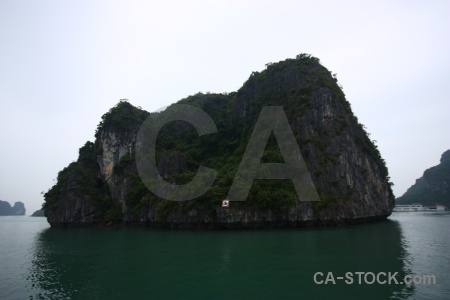 Cliff unesco island ha long bay southeast asia.