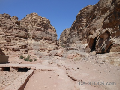 Cliff unesco nabataeans middle east western asia.